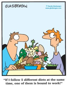 different diet cartoon