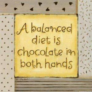 balanced diet chocolate