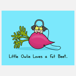 Fat owl and beets