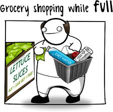 shopping while full