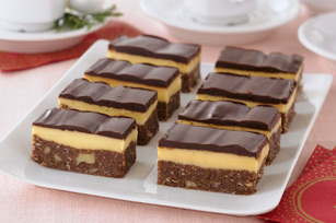 Nanaimo Bars Of course I cut mine in half again to eat less, or so I think...