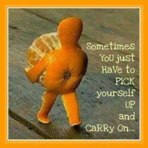 Walking orange