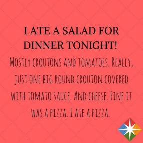 pizza as salad