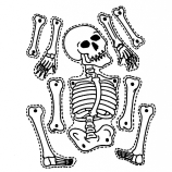 Simple Skeleton Drawing 1000 Images About Cute Skeleton Crafts For Kids On Pinterest